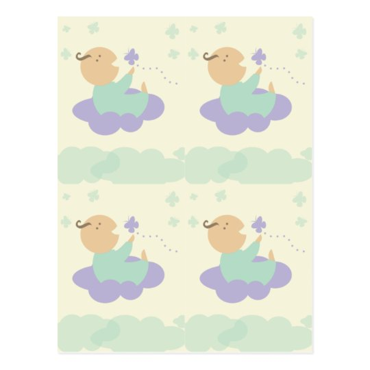 heavenly cloud baby packaging gift tags postcard