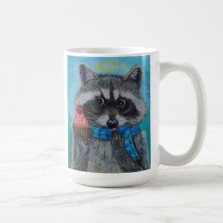 """Heavenly Cupcake""little raccoon loves his cupcake Coffee Mug"