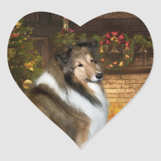Heavenly Grace Sheltie Heart Sticker