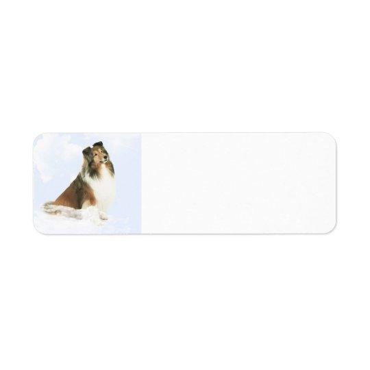 Heavenly Grace Sheltie Return Address Label