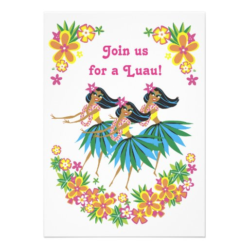 Heavenly Hula Luau & BBQ Invitations