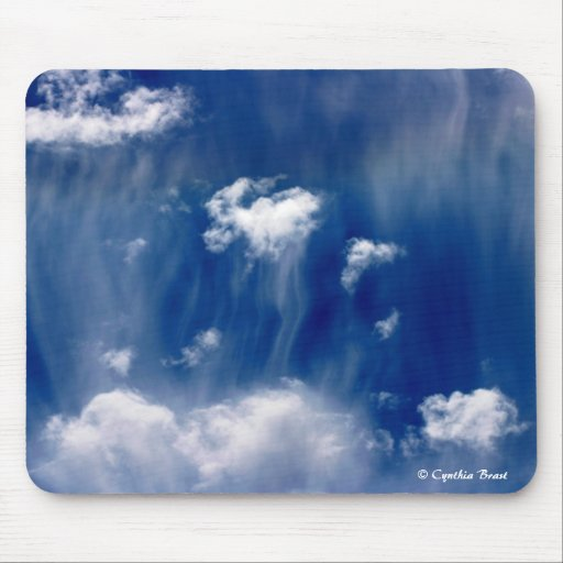 Heavenly Jellyfish Clouds Mouse Pads