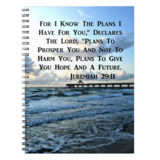 HEAVENLY JEREMIAH 29:11 SCRIPTURE DESIGN NOTEBOOKS