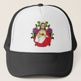 Heavenly Jesus Sacred Heart Trucker Hat
