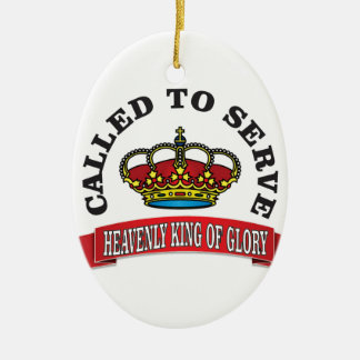 heavenly king of Glory Ceramic Oval Decoration
