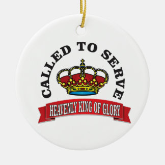 heavenly king of Glory Round Ceramic Decoration