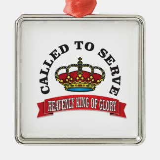 heavenly king of Glory Silver-Colored Square Decoration