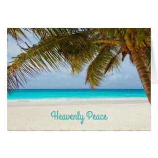 Heavenly Peace Palm Tree Beachside Christmas Card