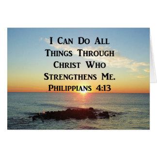 HEAVENLY PHILIPPIANS 4:13 SCRIPTURE DESIGN CARD