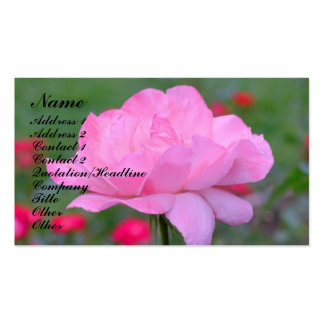 Heavenly Pink Rose Flower Business Card