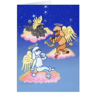 Heavenly Poodle Angels Card