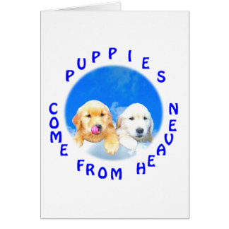 Heavenly Puppies T-Shirts and Novelty Gifts Note Card