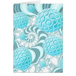 Heavenly Sea Shells, Abstract Pastel Beach Card