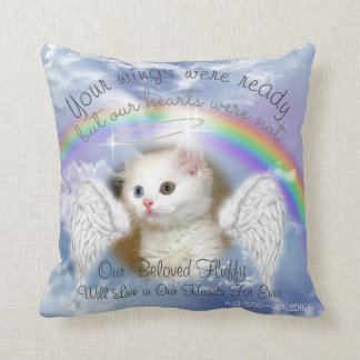 Heavenly Sky With Rainbow  Pet Memorial Cushion