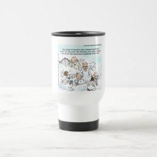 Heavenly Social Media Funny Coffee Mugs