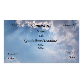 Heavenly Sunny Sky Pack Of Standard Business Cards