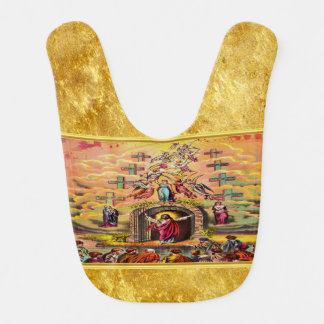 Heaven's Gate with a gold foil texture and Jesus Bib