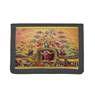 Heaven's Gate with a gold foil texture and Jesus Trifold Wallet