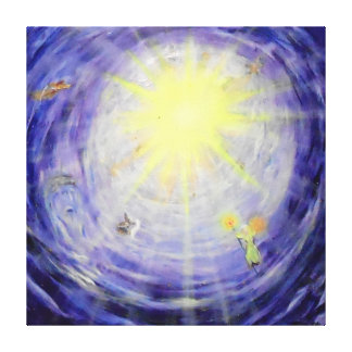 "Heaven's Light -40"" x 40"" Gallery Canvas Canvas Print"