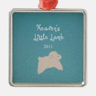 Heaven's Little Lamb 2011 Silver-Colored Square Decoration