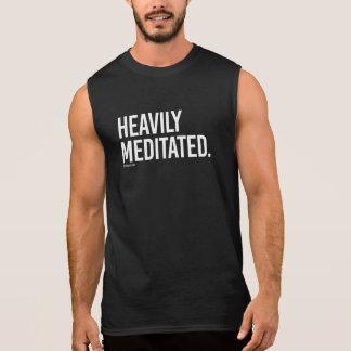 Heavily Meditated -   Yoga Fitness -.png Sleeveless Shirt