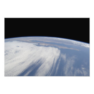Heavy cloud cover over the Pacific Ocean Photo