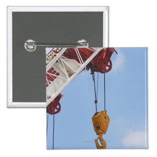 Heavy construction equipment 15 cm square badge