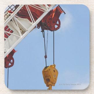 Heavy construction equipment beverage coaster