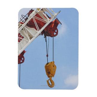 Heavy construction equipment rectangular photo magnet