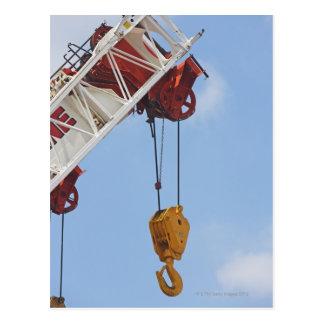 Heavy construction equipment postcard