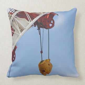 Heavy construction equipment throw pillow