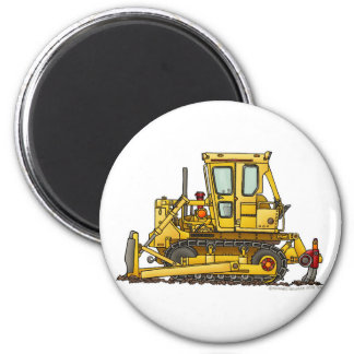 Heavy Duty Bulldozer Dirt Mover Construction Magne 6 Cm Round Magnet