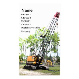 heavy duty construction crane pack of standard business cards