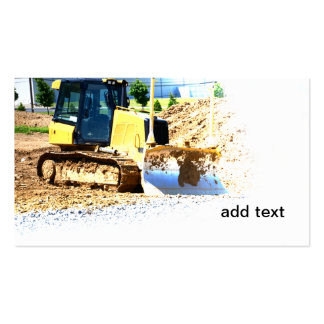 heavy duty construction equipment business cards