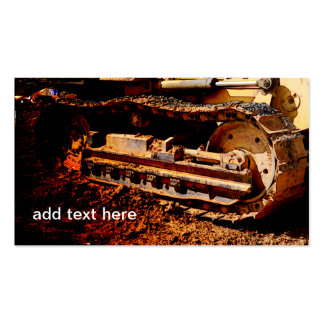 heavy duty construction equipment business card template