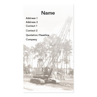 heavy duty construction equipment business card templates