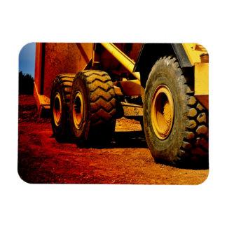 heavy duty construction equipment rectangular photo magnet