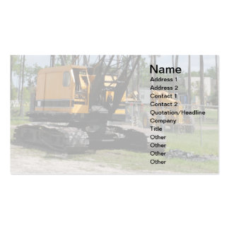 heavy duty construction equipment pack of standard business cards