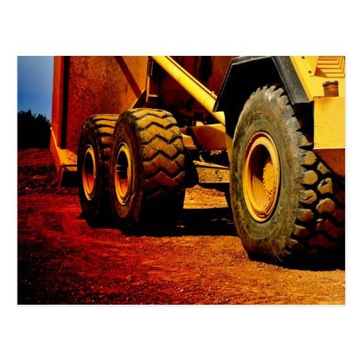 heavy duty construction equipment postcards