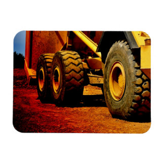 heavy duty construction equipment rectangular photo magnet
