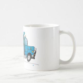 Heavy Duty Dump Truck Blue Basic White Mug