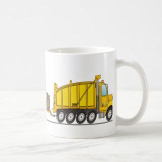 Heavy Duty Dump Truck Crane Basic White Mug