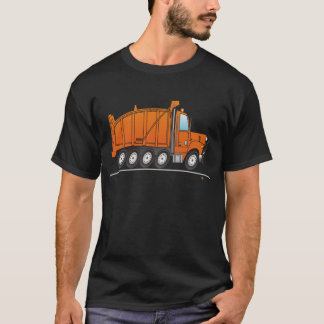 Heavy Duty Dump Truck Orange T-Shirt