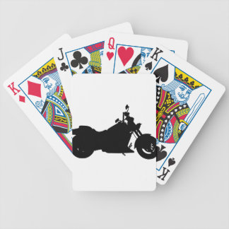 Heavy Duty Motorcycle Silhouette Bicycle Playing Cards