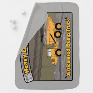Heavy Equipment Articulated Dump Truck Baby Blanket