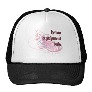 Heavy Equipment Babe Trucker Hats