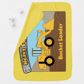 Heavy Equipment Bucket Loader Baby Blanket
