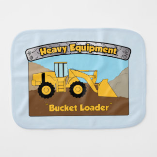 Heavy Equipment Bucket Loader Burp Cloth
