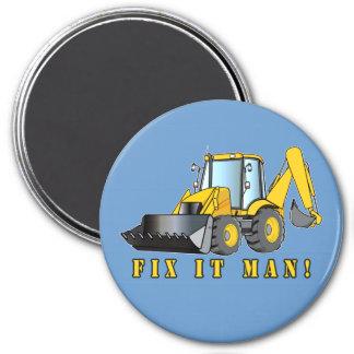 Heavy Equipment: Fix It Man! Refrigerator Magnets