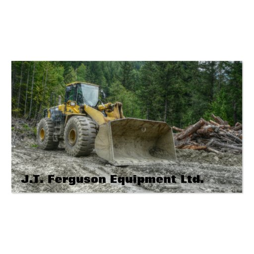 Heavy Equipment Machinery Land Clearing Tractor Business Cards